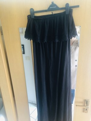 Maxikleid schwarz H&M 40 Volant
