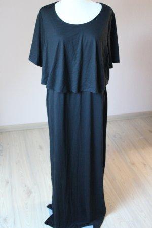 Maxikleid schwarz Kurzarm Sommerkleid Gr. 48 50  Lagenlook neu