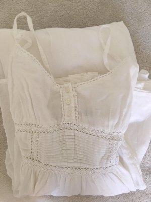 Maxikleid Sommer Zara weiß Festival 100% Baumwolle romantisch