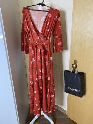 Maxikleid Sommerkleid Land rot Blümchen 38 M neu mit Etikett Kimono Ärmel mit Gürtel