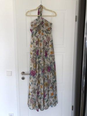 Maxikleid Sommerkleid neckholder Blumen Flowerdress HM 36 langes Kleid H&M