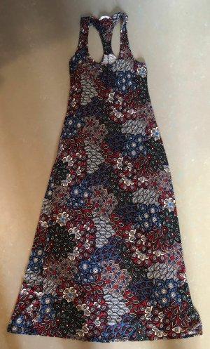 Debenhams Maxi Dress brick red-dark blue viscose