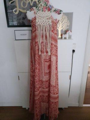 Zara Robe de plage rouge clair