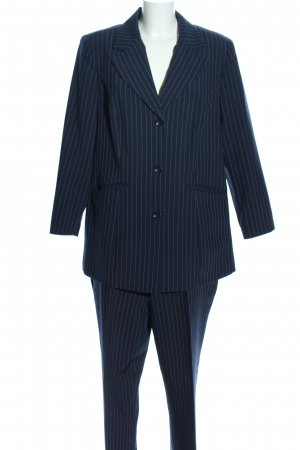 Maxime Pinstripe Suit blue-white striped pattern business style