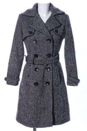 Maximille Heavy Pea Coat light grey business style