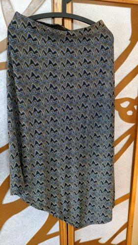 Trf by Zara Asymmetry Skirt multicolored polyamide