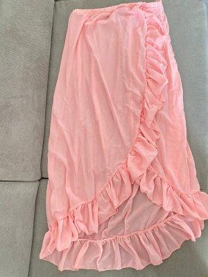 Jupe longue rosé-rose clair
