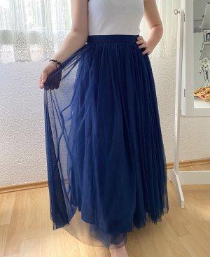 Asos Falda larga azul-azul oscuro