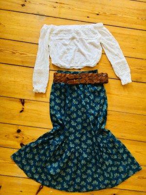 Anna Sui Falda larga multicolor Algodón