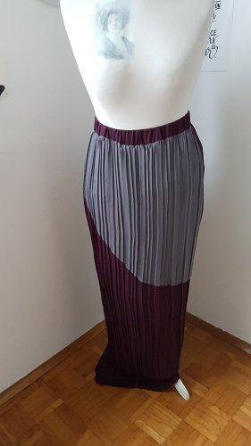 Stefanel Pleated Skirt grey-brown violet