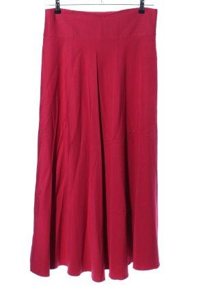 Falda larga rojo look casual