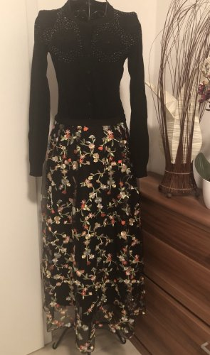 H&M Koronkowa spódnica czarny
