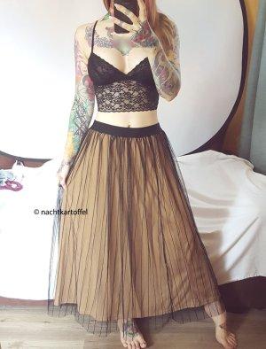 Tulle Skirt black-gold-colored