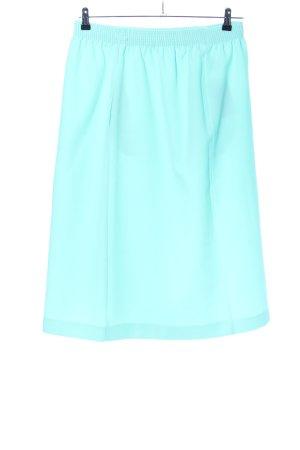 Falda larga turquesa look casual