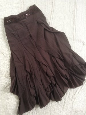 Flounce Skirt dark brown