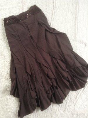Flounce Skirt dark brown