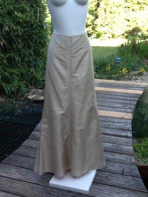Falda larga color oro Seda