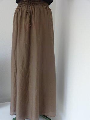 Snob Maxi Skirt grey brown cotton
