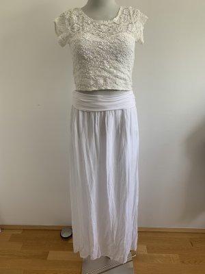 Maxirock weiß Baumwolle