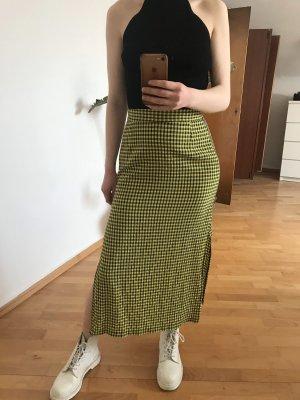 Maxiskirt high waist karos Reißverschluss Ragged Priest