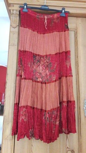 Didi Maxi Skirt carmine-dusky pink mixture fibre