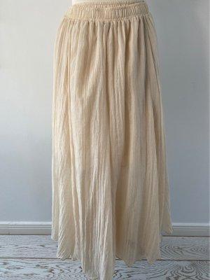 Spódnica z koła kremowy Bawełna