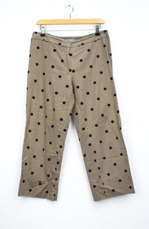 Max Mara Pantalon 3/4 marron clair-noir