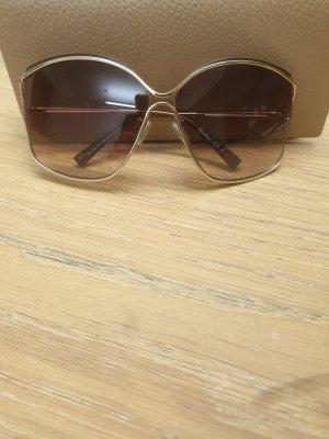 Max Mara Angular Shaped Sunglasses gold-colored