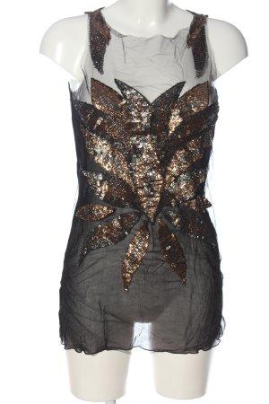 MaxMara Połyskująca bluzka czarny Elegancki