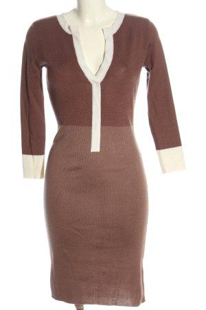 MaxMara Sweater Dress brown-natural white casual look