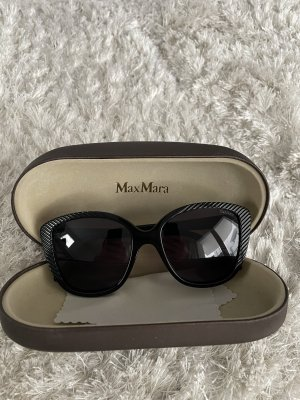 MaxMara Oval Sunglasses black