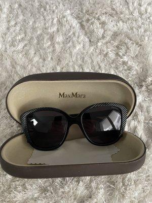 MaxMara Owalne okulary przeciwsłoneczne czarny