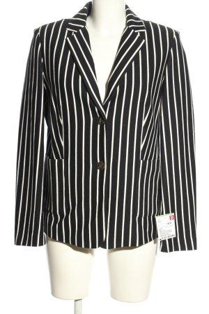 MaxMara Weekend Jerseyblazer schwarz-weiß Streifenmuster Business-Look
