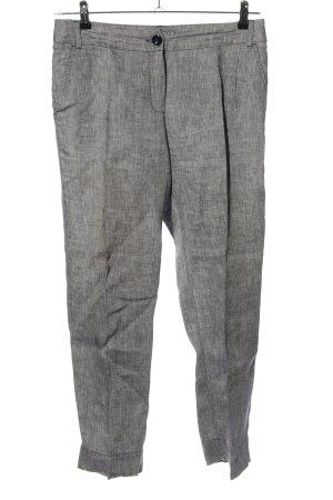 MaxMara Weekend Lniane spodnie jasnoszary Melanżowy W stylu casual