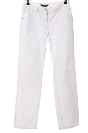 MaxMara Weekend Pantalon cigarette blanc style décontracté