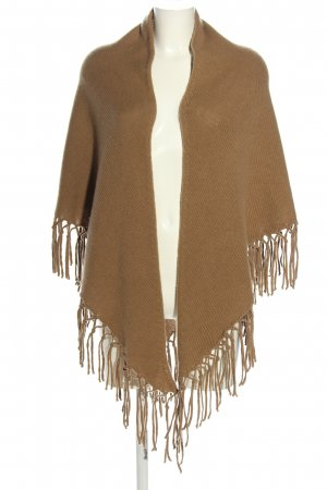 MaxMara Weekend Strickponcho braun Zopfmuster Casual-Look