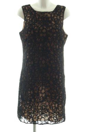 MaxStudio Spitzenkleid schwarz-nude Elegant