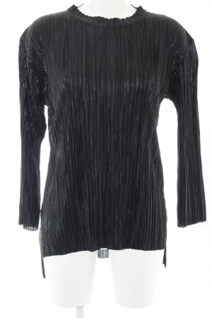 Langarm-Bluse schwarz Casual-Look