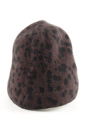 Maya Beanie bronzefarben-schwarz Allover-Druck Casual-Look
