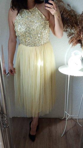 Maya Deluxe Abendkleid gelb midi 40(12) neu