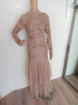 maya Deluxe Abendkleid nude Champagner 34 neu