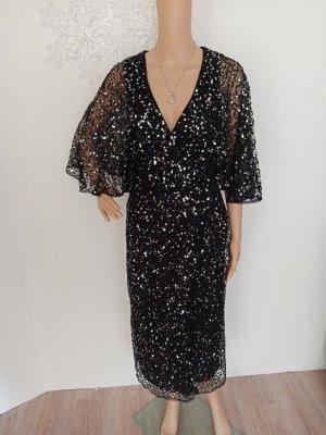 Maya Deluxe Abendkleid schwarz Silber 36