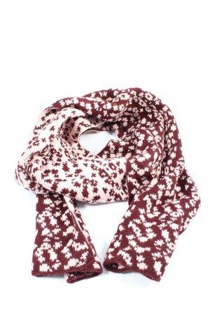 Maya Szydełkowany szalik czerwony-biały W stylu casual