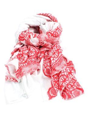 Maya Écharpe d'été rouge-blanc imprimé allover style décontracté