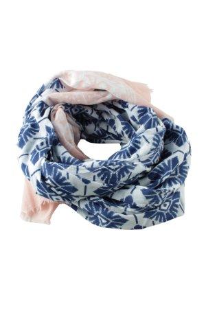 Maya Sommerschal creme-blau abstraktes Muster Casual-Look