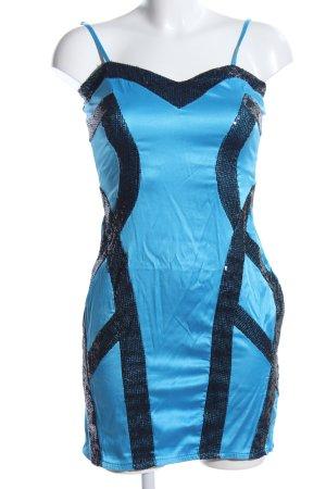 Mayaadi Trägerkleid blau-schwarz Elegant