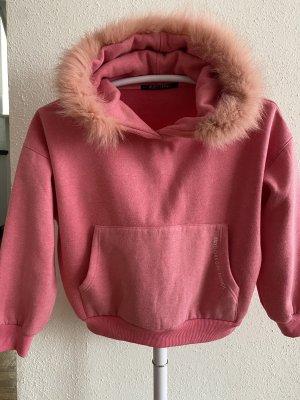 Mayo Chix Maglione con cappuccio rosa