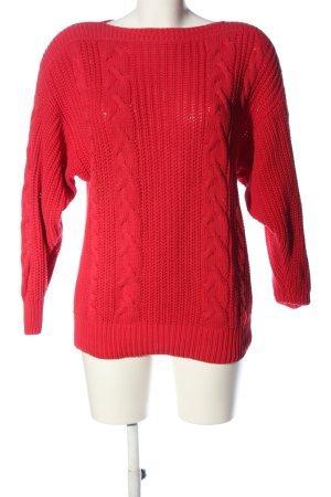 MAYON Warkoczowy sweter czerwony Warkoczowy wzór W stylu casual