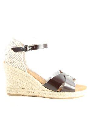 Maypol Wedges Sandaletten braun-weiß Casual-Look