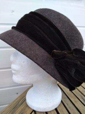 MAYSER Chapeau en laine brun foncé-brun noir
